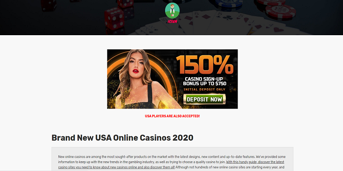 Brand New Usa Online Casinos 2021